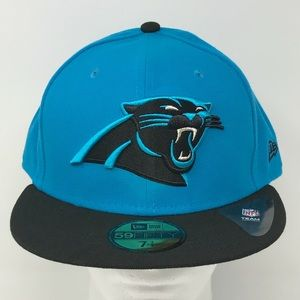 Carolina Panthers NFL Fitted 59Fifty Flat Brim Hat